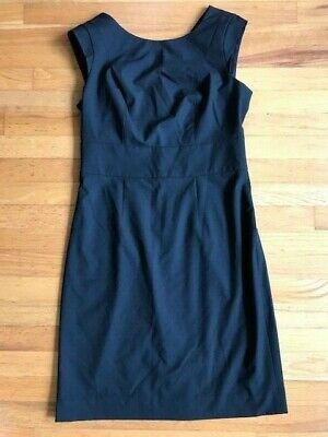 The Limited Black Collection Dress Solid Black Sleeveless V Back Women's Size 10