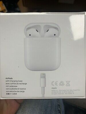 Genuine Apple Airpods White 2nd Generation MV7N2AM/A with Charging Case Sealed