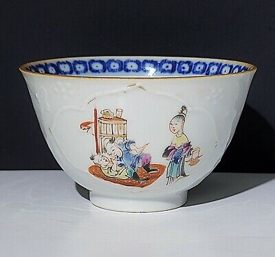 18th c Antique Chinese Export Famille Rose Porcelain Cup