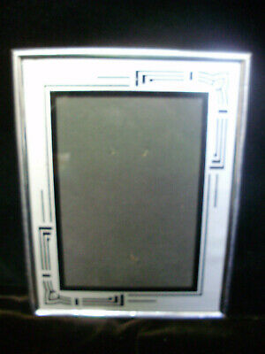"""Vintage Art Deco Picture Frame 9"""" X 7"""" With Easel Back"""