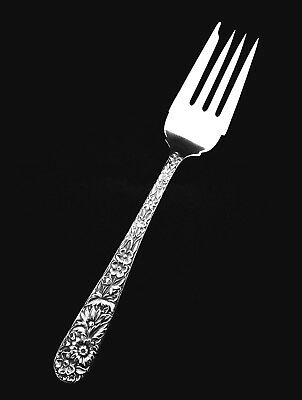 "🍴 S. Kirk and Son Sterling Silver Repousse Salad Fork - 6 1/4"" 👍"