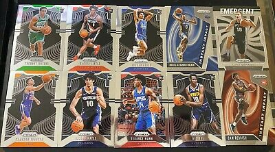 2019-2020 Panini Prizm Basketball ROOKIE lot (10 RC) Base And Insert