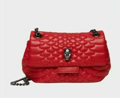 Betsey Johnson Heads Up Small Crossbody Red Skull Accent Chain Handle NWT