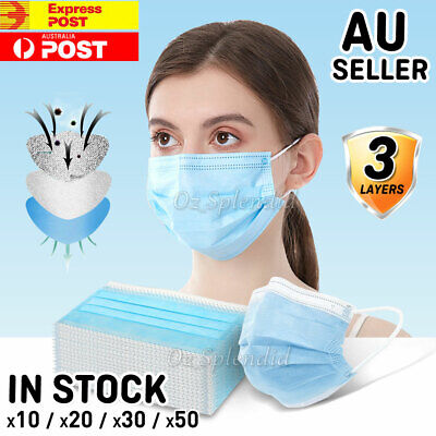 10-50x Protective Face Mask Anti Bacterial Filter SAME DAY SHIPPING