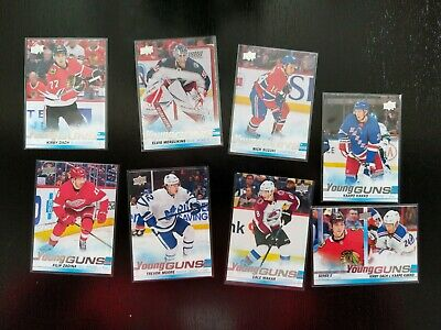 2019-20 Upper Deck Young Guns Series 2 Complete Set (50 Cards, Suzuki, Kakko)