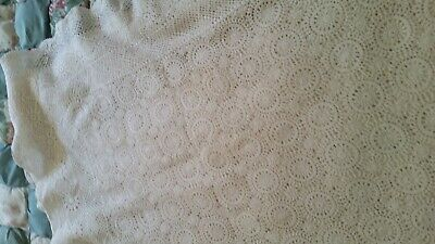 Crochet Large Vintage White  Table Cloth / Bed Throw (007072) Ref 2