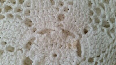Crochet Large White  Table Cloth / Bed Throw (007071) Ref 58