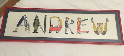 Personalized for ANDREW Framed Wall Art Kid's Room Art