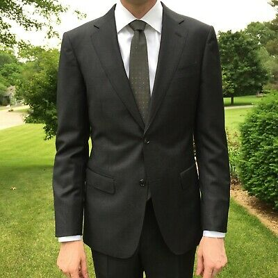 New Suitsupply Charcoal Napoli Suit; Size 38L; Originally $399