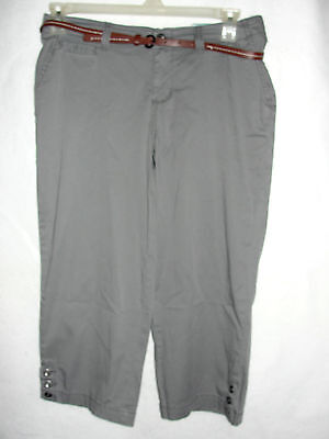 Womens Sonoma Modern Fit Gray Capris - Size 8 - NWT