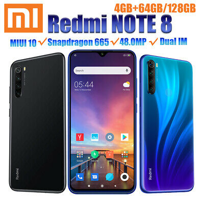 Xiaomi Redmi Note 8 4+64/128GB Snapdragon 665 4G Dual SIM Phone 48MP Fast Charge