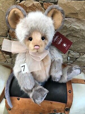 Roulade 7 Charlie Bears Plush Collectable Fully jointed Mouse Teddy Bear