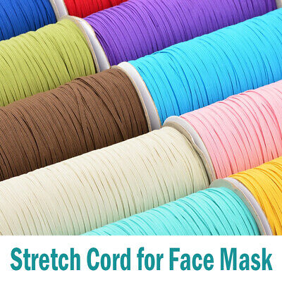 3mm Flat Elastic Band Stretch Cord Costume Clothing DIY Materials Sewing Craft