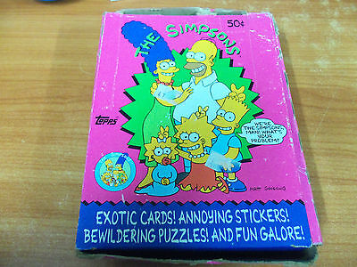 The Simpsons Trading Card Empty Box
