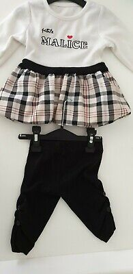Baby Girls Outfit age 3 months .leggings And Top Set Burberry Inspired