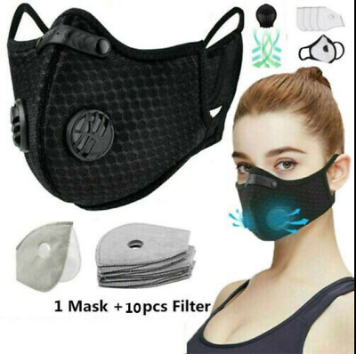 Motorcycle Bike Cycling Winter Half Face Shield + 10 Activated Carbon Filter