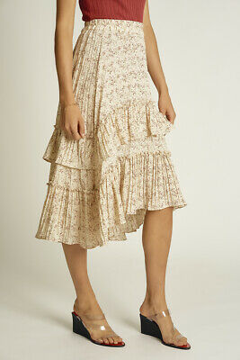 Temt Ditsy Floral Pleated Skirt (325109)