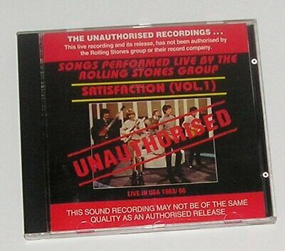 The Rolling Stones Unauthorised - 1963/66 Live In Usa - Satisfaction Vol 1  Cd
