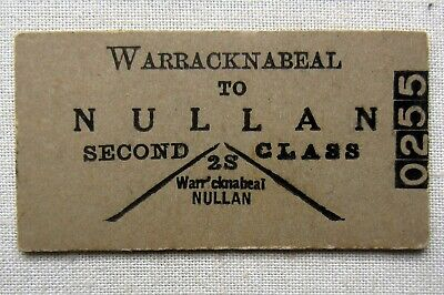VR - Warracknabeal to Nullan - Second Class