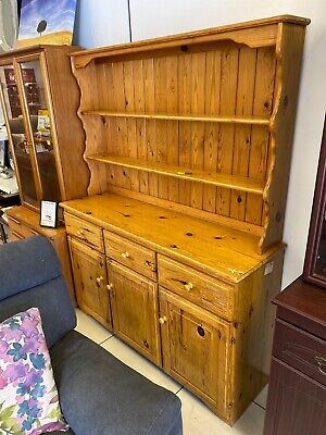 Large Pine Welsh Dresser With Drawers And Cupboards  Upcycling Project #GAWIF