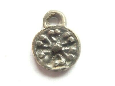 GREAT SAVE > Viking Era small Billon *Sun* AMULET / PENDANT 1000 AD WEARABLE!*