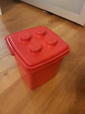 Lego Eimer Tube Storage rot 2802 1987 1992 90er retro Red Box