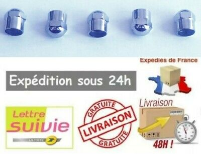 5 Bouchons Valve Capuchons  CHROME Tête Ronde Voiture moto Camion velo scooter