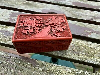 Antique Chinese Red Laquered Box