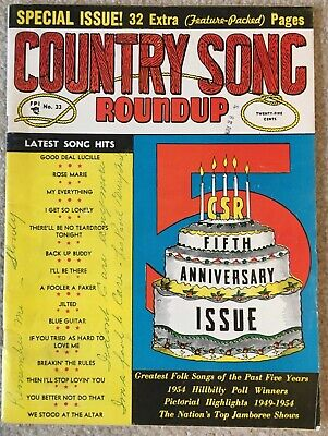 July/August 1954 COUNTRY SONG ROUNDUP Magazine - 5th Anniversary Special Issue