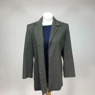 Vintage Lord & Taylor Wool Cashmere jacket box 90s oversized coat womens medium