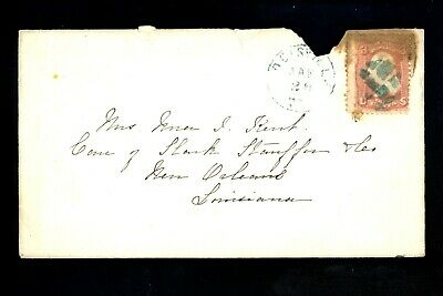 US Postal History #65 Classic issued 1861 Louisville KY to New Orleans LA