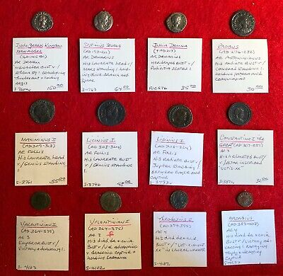 Collection Of 12 NICE Ancient Coins- 1 Greek, 11 Roman- SILVER And Bronze- L@@K!