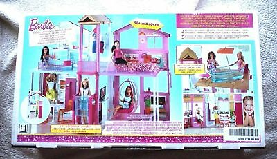VERY RARE BARBIE 3-STORY TOWNHOUSE: 3 FLOORS, 5 ROOMS, 90x60 CMs! BRAND NEW!
