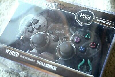 Legends Controller, Ps3 Compatible! Wired, Technology Dualshock! Joystick, New!