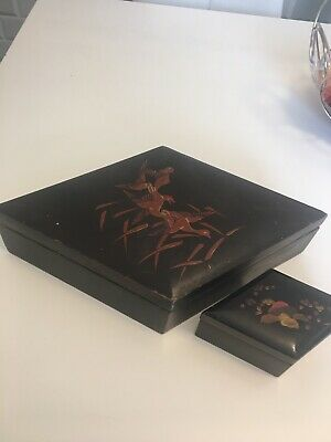 Antique Oriental Laquered Boxes Japanese?