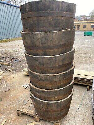 Genuine Oak Half Whisky Barrel Planter Wooden Discount On More 1 Message Me
