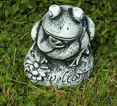 Latex Mould to make Garden Ornament Statue  Welcome Frog Concrete Plaster New