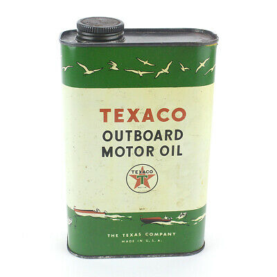 Vintage Texaco Outboard Motor Oil Can