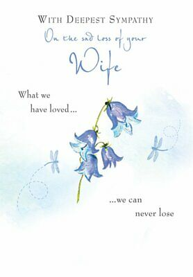 GFC with deepest sympathy on the loss of your niece stairway GREETING CARD WATERCOLOUR 5X7 INCHES