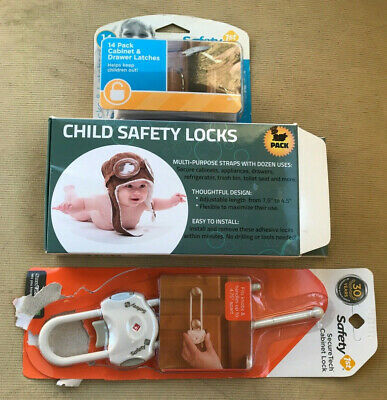 Safety 1st Baby Proofing Lot - Child Safety Locks Cabinet Lock & Drawer Latches