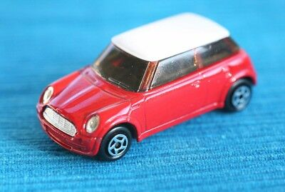 MINI COOPER BMW AG rojo inmaculado, Majorette (Model Car). Very Good Condition!