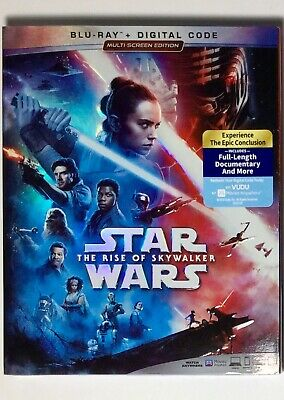 Star Wars Rise of Skywalker Blu-ray Digital Slipcover Brand NEW FREE~First Class