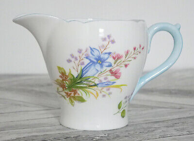 SHELLEY England Fine Bone China WILD FLOWERS Milk/Cream JUG 13668 Rare Pretty