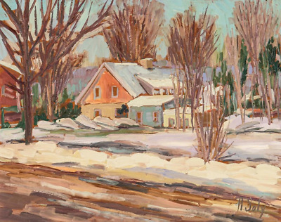 Canadian Painting    Albric Soly RCA   Oil Painting