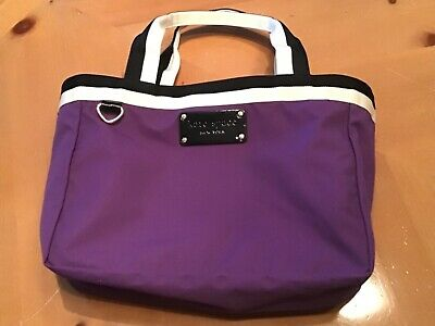 Kate Spade Small/Medium  Purple, Black & White Open Top Tote *New W/Inside Flaws