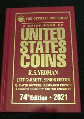 2021 Whitman Official Red Book of US Coins- 74th Edition - Hard Cover *NEW*