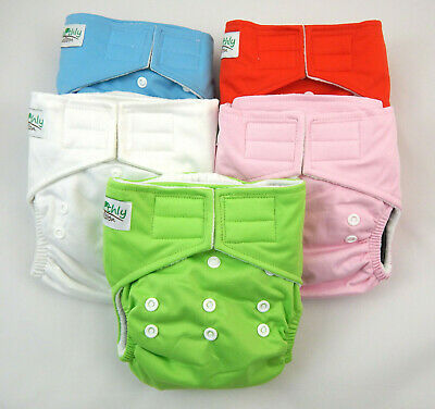 Nappies Cloth New Reusable Bamboo Eco-friendly Baby Nappy Diaper One Size 2 pack