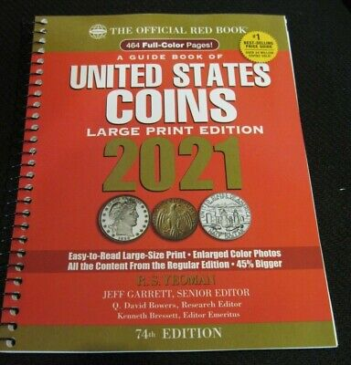 2021 Whitman Official Red Book of US Coins- 74th Edition - :arge Print *NEW*