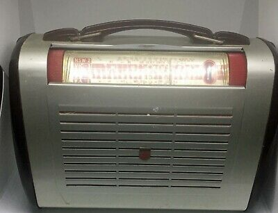 Philips Portable Valve Radio Fully Working On Both Batteries And Mains