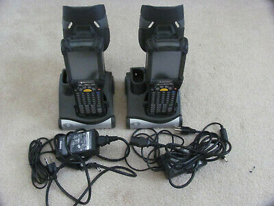 Lot of 2 MC9090-GK0HJEQZ1US Motorola RFID barcode scanner with chargers